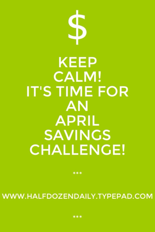 April Savings Challenge